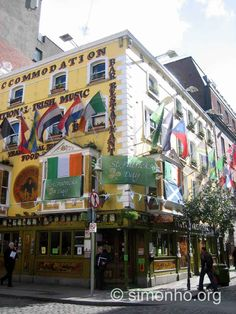 A pub in Temple Bar, decorated in anticipation of St Patrick's Day ...