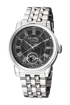 c577c4e825c Gevril Men s Washington Bracelet Watch Pulseira De Aço Inoxidável