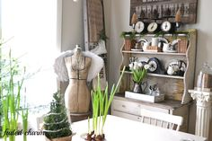 Faded Charm: ~Holiday Home Tour 2012 & A Linky Party~