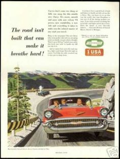 Chevrolet Bel Air Chris Allen Art Vintage (1957)