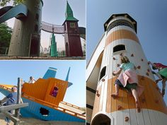 15 Coolest Playgrounds around the world, but mostly in Denmark.   These kids are so lucky.