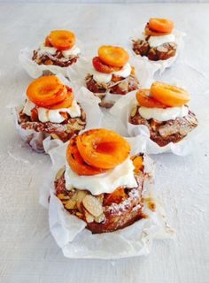 Fresh Apricot and Almond Cakes