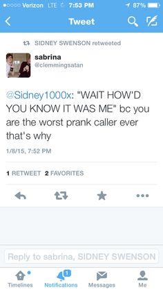 Sidney prank called my friend