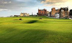 The St Andrews Old Course, and one of the most dreaded holes in golf! The 17th, 'the Road Hole'