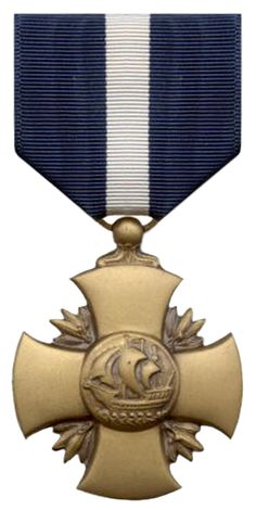 The Navy Cross is the second highest military decoration for valor that may be awarded to a member of the United States Navy, Marine Corps, or Coast Guard for extraordinary heroism in combat.[1] It is equivalent to the Army's Distinguished Service Cross and the Air Force's Air Force Cross and the Coast Guard's Coast Guard Cross.