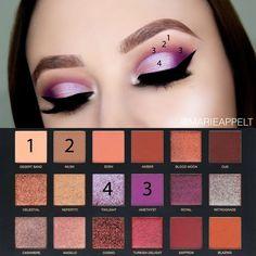 huda beauty desert dusk palette makeup tutorial #hudabeauty #makeuptutorial #makeupartist #makeup #desertdusk #palette #makeuptips