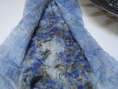 woman with wings: dyeing with larkspur - Also Indigo 9-3-2013