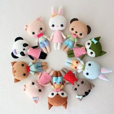 Pocket Pets pdf Pattern Complete Set of 5 by Gingermelon on Etsy