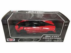 MOTOR MAX 1:24 W/B PAGANI HUAYRA (MJ EXCLUSIVE) Brand new box Rubber tires. Made of diecast with some plastic parts Detailed interior, exterior. Dimensions appr