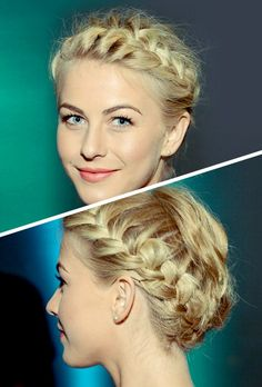 Modern crown braid.
