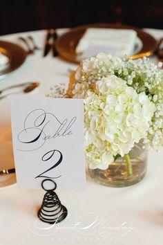 Sweet Monday Photography | #AldenCastle #LongwoodVenues #Boston #Wedding #TableNumber #TableName #TableDecor #Centerpiece #Flowers #Hydrangea #BabiesBreath  #WeddingDecor #Bride #Groom #Photography  http://sweetmondayphotography.com http://www.longwoodevents.com