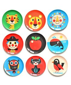 Happy Face plates for picnics.