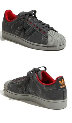 adidas Superstar II: Grey/Red