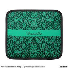 Personalized Irish Kelly Green Lace iPad Sleeve