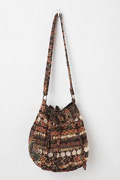Ecote Kilim Zip-Pocket Shoulder Bag