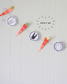 Bunnies and Carrots Easter Garland