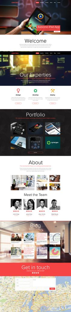 One Page Portfolio Website FOR SALE by ~Nas-wd on deviantART #webdesign