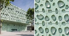A Sculptural Facade Inspired By Nanotubes Was Created For This Science Building In Portugal