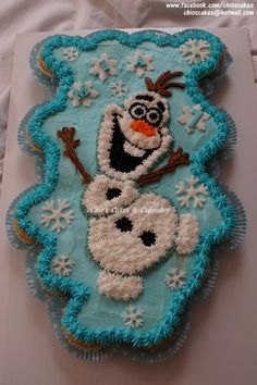 Olaf Pull-Apart-Cupcake Cake. Follow me: www.facebook.com/chioscakes #Olaf #Frozen