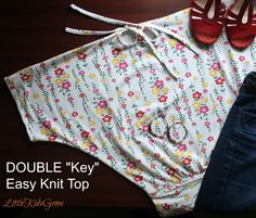 """Double """"Key"""" Easy Knit Top (for Ladies!)