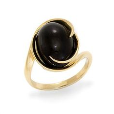 Black Coral Ring in 14K Yellow Gold   $1,295
