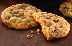 Try this Brickle Drop Cookies recipe, made with HERSHEY'S products. I added a 12 oz. pkg. white chocolate chips. Yum!