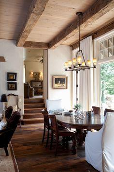 rustic & elegant dining room