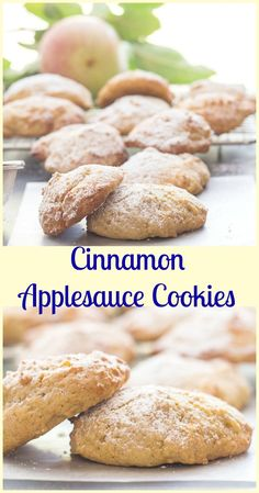 Cinnamon Applesauce Cookies, fast, easy and delicious!