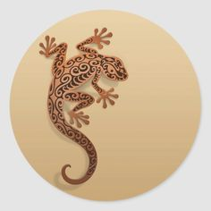 Shop Climbing Brown Gecko Classic Round Sticker created by JeffBartels. Personalize it with photos & text or purchase as is! Gecko Tattoo, Lizard Tattoo, Wood Burning Patterns, Wood Burning Art, Petit Tattoo, Cave Drawings, Circle Tattoos, Reptiles, Rock Painting Ideas Easy