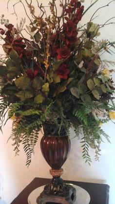 Tuscan decor – Mediterranean Home Decor Tall Floral Arrangements, Floral Centerpieces, Everyday Centerpiece, Large Garden Pots, Church Flowers, Fall Flowers, World Decor, Mediterranean Home Decor, Tuscan Decorating