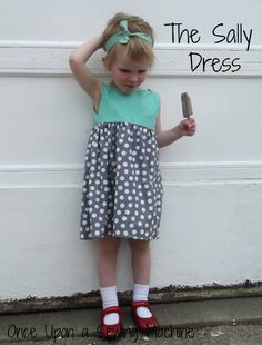 This Sally Dress Brought to You by Chocolate Popsicles - Once Upon a Sewing Machine