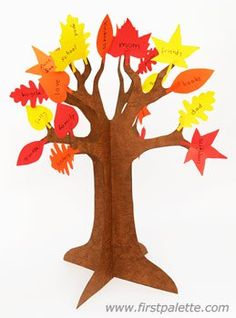 Make a gratitude tree craft for Thanksgiving