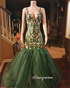 "350 Likes, 10 Comments - Ben DesignerAlmonor Almonor (@designerben) on Instagram: ""#Emeraldgreen #sequinlacedress #sequindress #prom2k17 #designerben #atlantadesigner…"""