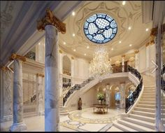hall that leads to the indoor pool in RITZ CARLTON HOTEL RIYADH SAUDI ARABIA....