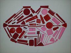 Artworks: Mixed Lips. Acrylic Paint, Mixed Media.
