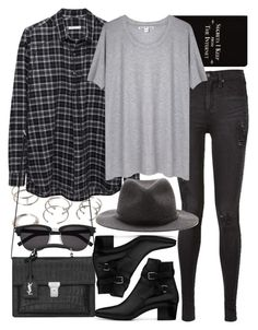 """""""Untitled #6400"""" by nikka-phillips ❤ liked on Polyvore featuring Rich and Damned, Forever 21, 6397, rag & bone, Acne Studios and Yves Saint Laurent"""