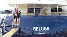 Crew from Beluga happy with their YP pack! October, Search, Happy, Searching, Ser Feliz, Being Happy