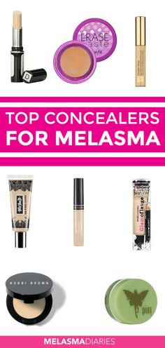 Hide your Melasma hyperpigmentation with this list of the best concealers for Melasma.