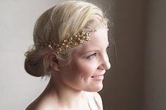 OOAK wedding bridal headband leaf crown Miss by gadegaarddesign, $100.00