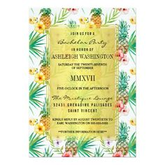 Shop Tropical Pineapple & Hibiscus Save The Date Invitation Postcard created by StonkingStuff. Personalize it with photos & text or purchase as is! Postcard Wedding Invitation, Couples Shower Invitations, Bachelorette Party Invitations, Rehearsal Dinner Invitations, Engagement Party Invitations, Save The Date Invitations, Floral Wedding Invitations, Custom Invitations, Engagement Parties