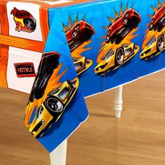 """Amscan Hot Wheels Speed City 54"""" x 102"""" Plastic Table Cover"""