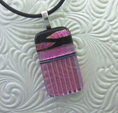 Rose Marquis Dichroic Pendant, Handmade Fused Glass Jewelry from North Carolina by gildedlilyglass on Etsy https://www.etsy.com/listing/116997324/rose-marquis-dichroic-pendant-handmade