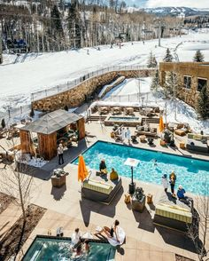 Eco-friendly snow lovers: Grab your gear and head to this LEED-certified, ski-in/ski-out resort at the base of Aspen's Snowmass Village. Plan the perfect après party with Rocky Mountain views or just make yourself at home in the cozy rooms—each of which come with a full kitchen. | Photo Credit: Viceroy Snowmass