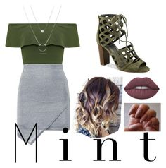 """Mint Fresh"" by toplayfulforyou ❤ liked on Polyvore featuring WearAll, G by Guess and Lime Crime"