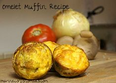 Omelet Muffins Recipe: Naturally gluten free with dairy free options #glutenfree #dairyfree #breakfast