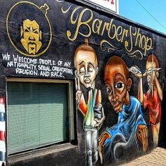 I stumbled upon with incredible graffiti on West 7th Avenue. Apparently it was a barbershop in a precious life. Whenever I see cool artwork on a wall, it reminds me of another gifted artist I know living in Los Angeles, California named Joseph Dias.
