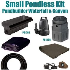 """10 x 25 Small Pondless Waterfall Kit 3200 GPH Mag Drive Pump Pondbuilder 20"""" Waterfall & Pondbuilder Mini Pump Canyon PSP0 by Patriot. $550.00. Liftgate Service is Not Included. Contact Carrier For Liftgate Service Which Is An Additional $85.00. Ships Truck Freight or FedEx Ground - Additional Carrier Charges May Apply. 1½"""" x 25' FreezeFlex PVC Hose, (1) 20 Watt Rock Lights with 20 Watt Transformer, All Installation Hardware, Fittings & Directions (DVD). 10 x 25 EPDM LifeGuar..."""