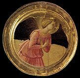 Tondo dell'Annunciazione nel Trittico di Cortona( dettaglio) dipinto di Beato Angelico, tempera su tavola (218x240 cm), databile al 1436-1437 e conservato nel Museo Diocesano di Cortona.