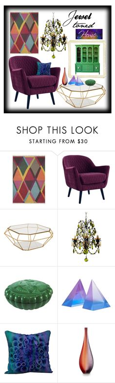jewel toned mood board by creation gallery liked on polyvore featuring interior