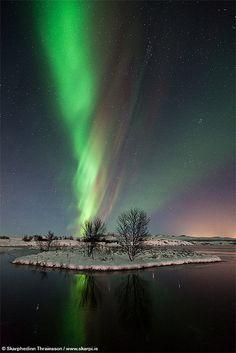 Aurora Borealis at Þingvellir National Park, Iceland